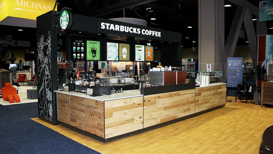 Starbucks Tradeshow Kiosk Pivot