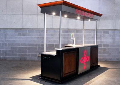 Concession Large Full Service Bar Cart 12