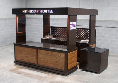 Mother Earth Coffee Pop Up Cart