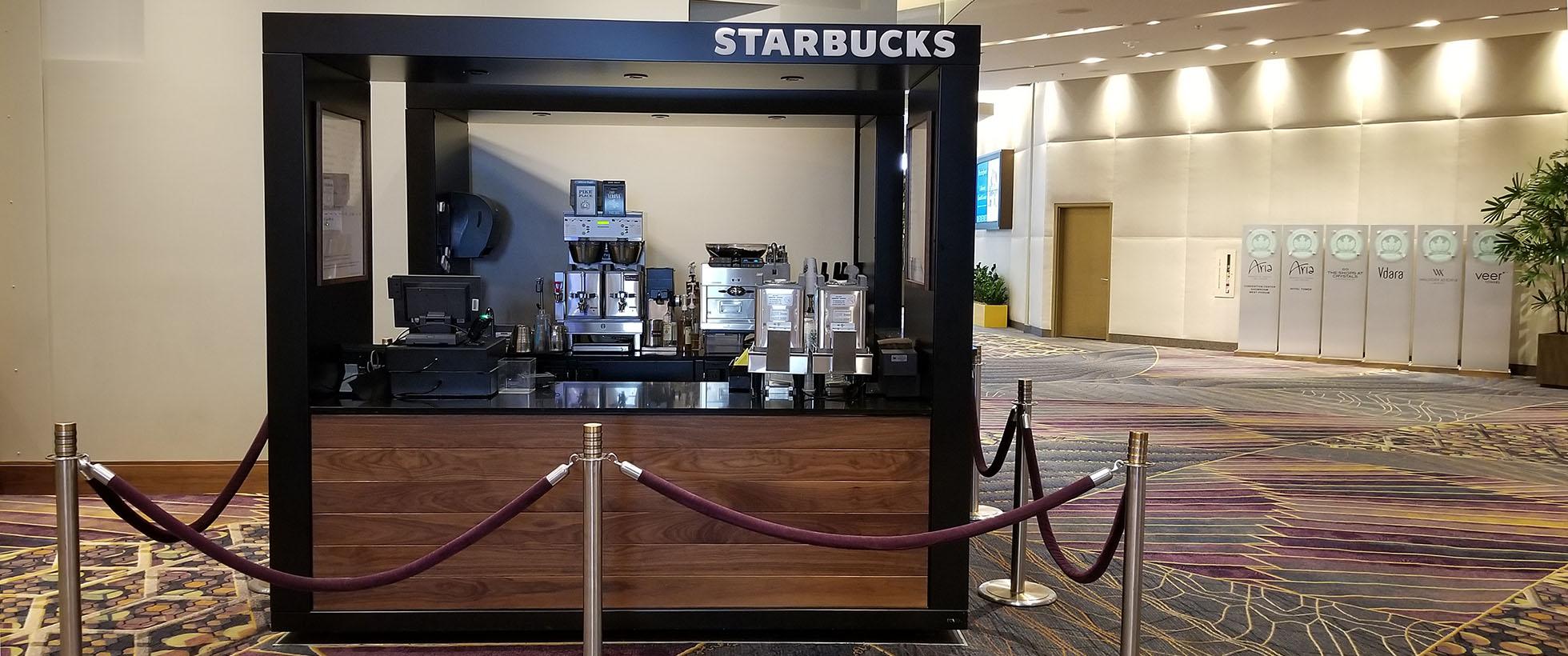 Starbucks Pop Up Cart Store